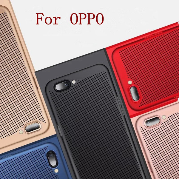 Wholesale Multicolor Phone Case Thin PC Phone Cases Simple Radiating Back Cover Cell Phone Case for OPPO 100pcs MPS6
