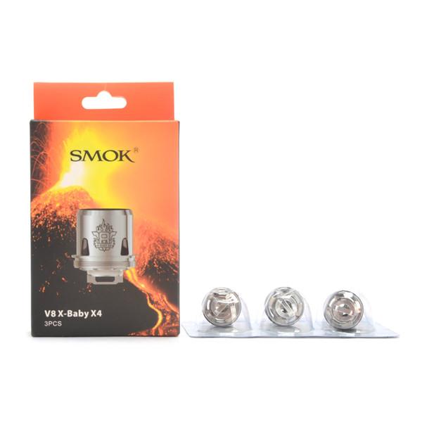 Original Smok TFV8 X Baby Tank Coils V8 X-Baby M2 0.25ohm T6 0.2ohm Q2 0.4ohm X4 0.13ohm 100% Smoktech V8 X Baby Replacement Coil 3 pcs a