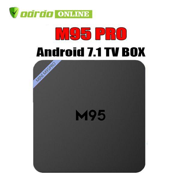 Cheapest M95 PRO RK3229 Quad-Core 1GB 8GB Smart Tv Box WiFi 3D HDMI Android 7.1 TV Cheap Set-top Box Media Player Better MXQ PRO TX3 MINI