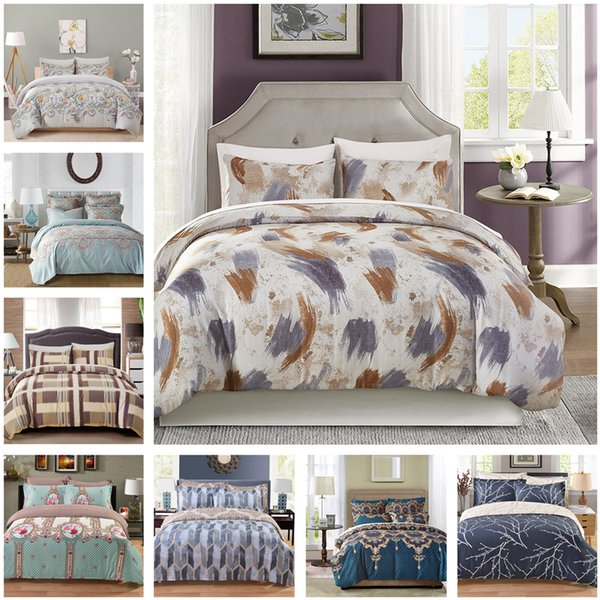 New Fresh Design Bedding Set Of 2PC-3PC Duvet Cover Set Quilt Cover Pillowcase Twin Queen King Size Factory Price