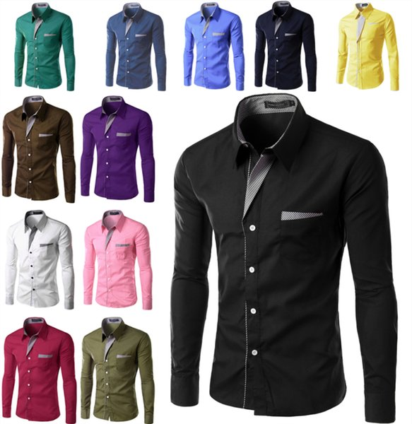 quality design 84c91 0ac4f Großhandel Billige Kleidung Mode Lässig Herren Langarm Hemd Herrenhemden  Herrenhemden Kleidung Größe 167 Von Babyyuke, $11.26 Auf De.Dhgate.Com | ...