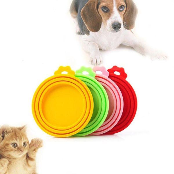 Silicone Sealed Food Can Tapa para cachorro Perro Gato Tapa superior Tapa reutilizable Tapa Salud Mascota diaria Productos