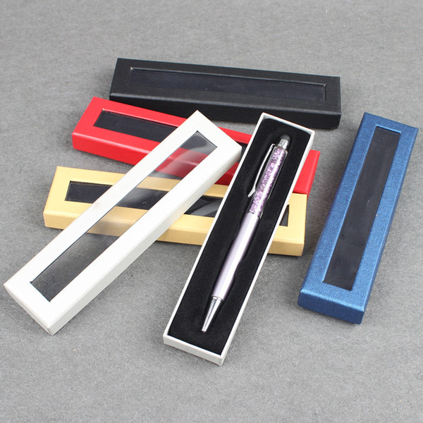 Paper Pen Case with Clear Window Pen Display Boxes Gift Box Customized LOGO