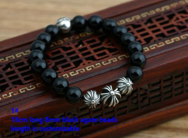 1#18cm 8mm beads bracelet
