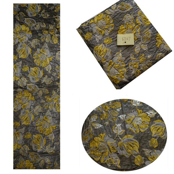 Compre S7167 Aclaramiento Amarillo Tela De Moda De Alta Costura Con ...