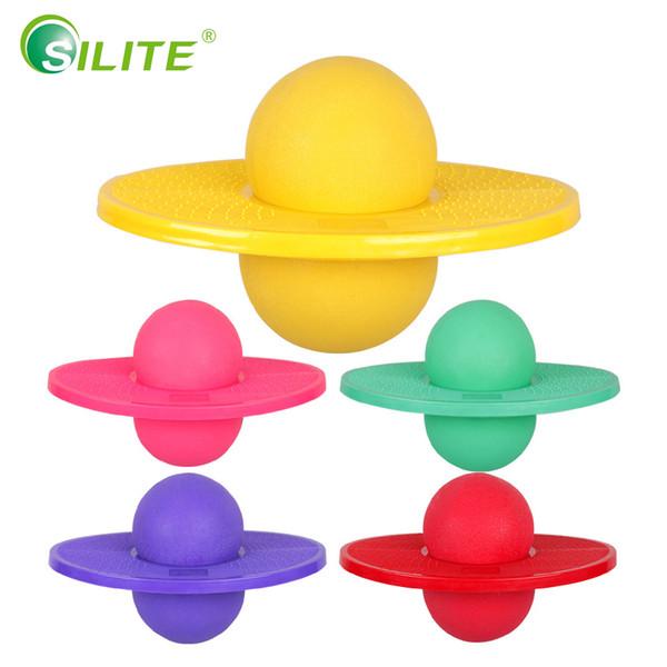SILITE Balance Bouncing Jumping Ball PVC Non-slip Inflatable Fitness Slimming Ball Jump Hop for Children Adult Sport Equipment