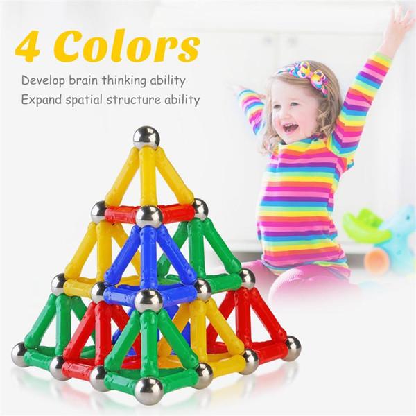 Magnet Toy Bars & Metal Balls Magnetic Building Blocks Construction Toys For Children DIY Designer Educational Toys For Kids