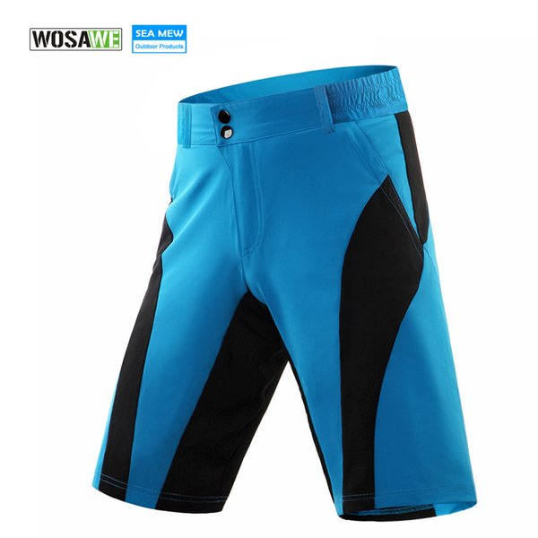 WOSAWE MTB Bike Radhose Männer Frauen Fahrrad Bermuda Ciclismo Downhill Wasserdichte Kurze Anti-Sweat Quick Dry Shorts