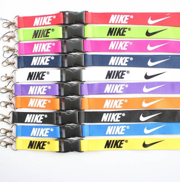 Neu Kostenloser versand 10 stücke sport Kleidung logo Lanyard ID Badge Keychain Halter kette iPod Kamera Halsband Abnehmbare Mehrfarben # 9104