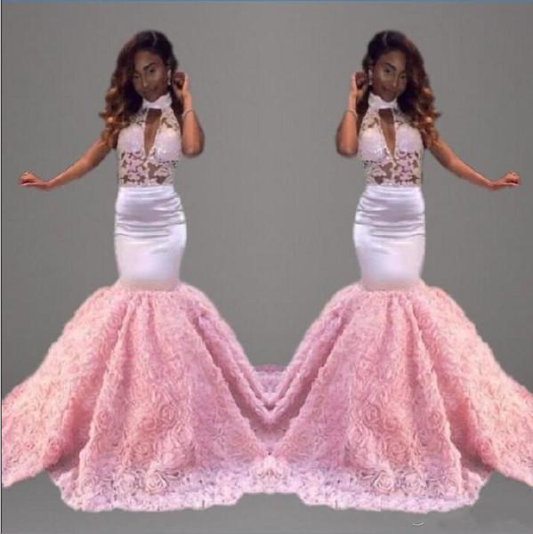Compre Vestidos De Baile Africanos Rosados atractivos Del Baile De ...