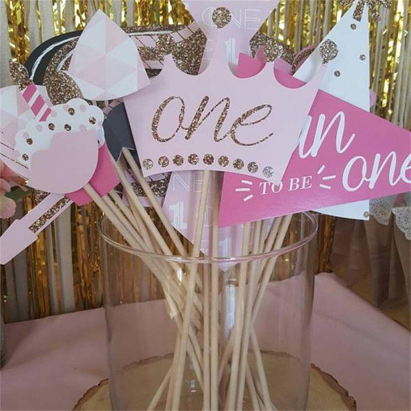 Unicorn Mask Cake Insert Card Activity Arrangement Birthday Theme Christmas Decorate Party Handmade Photograph Prop Hot Sale 10md V
