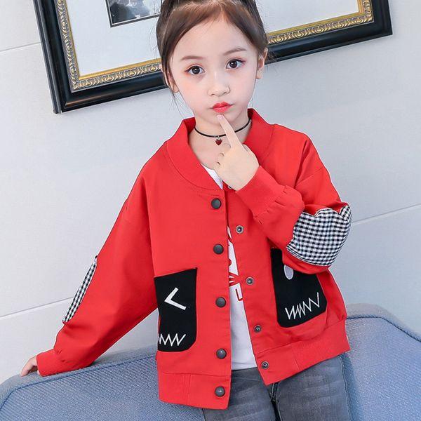 Girls Autumn Jacket New Style Little Kids Girl Coat Children's Clothing Spring and Autumn Thin Fashion Jacket