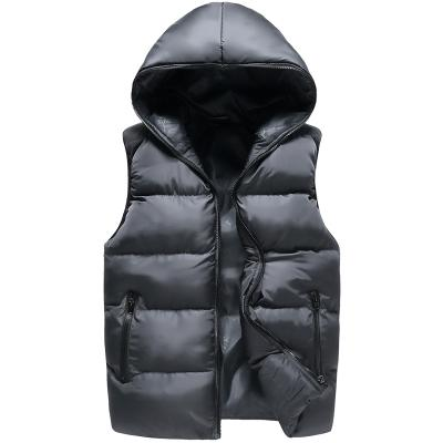 2017 New Winter Men Vest Hoody Cotton Padded Thicken Thermal Outwear Casual Vest Waistcoats For Men Jacket Sleeveless Plus Size
