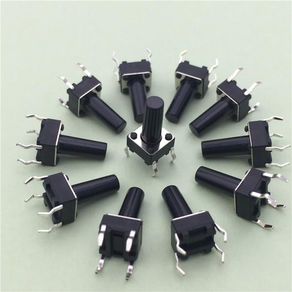 50 pçs / lote 6x6x12 MM 4Pin G95 Tactátil Tact Botão Micro Interruptor Direct Self-Reset DIP Topo De Cobre Rússia