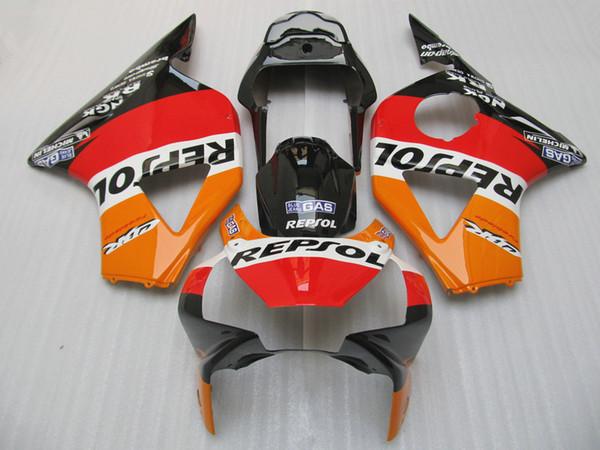 Hot sale fairings set for Honda CBR900RR 2002 2003 CBR954 black red orange fairing kit 02 03 CBR954RR CBR 954RR CA28