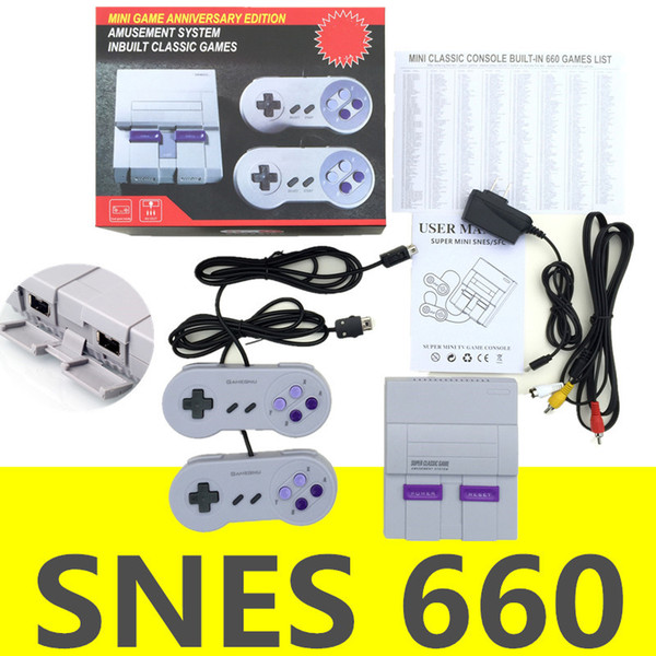 Super NES Game Consoles SNES Classic Games Mini TV Video Games Handheld Retro Player NES For PAL NTSC With Retail Box