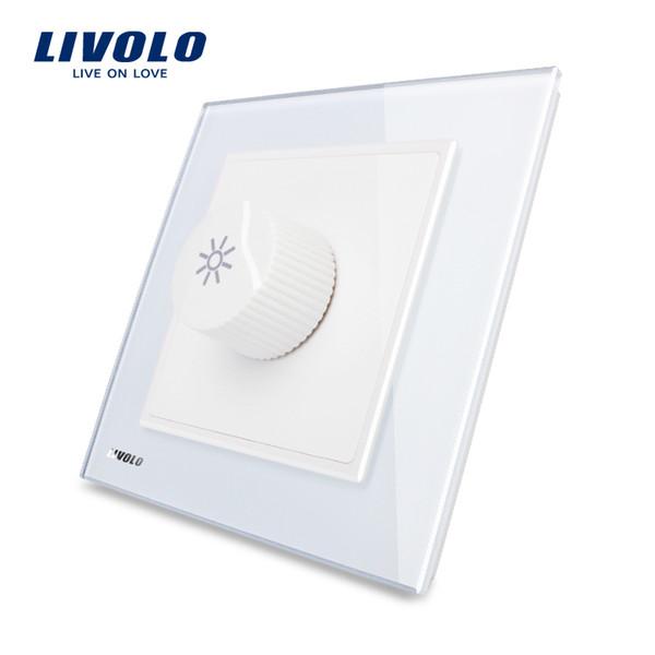 LIVOLO UK standard Knight Black Crystal Glass Panel AC 110~250V Dimmer Light Switch VL-W291G-11/12/13