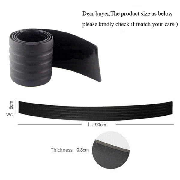 KAWOO For Chrysler Sebring Voyager Crossfire PT Cruiser Rubber Rear Guard Bumper Protect Trim Cover Sill Mat Pad Car Styling