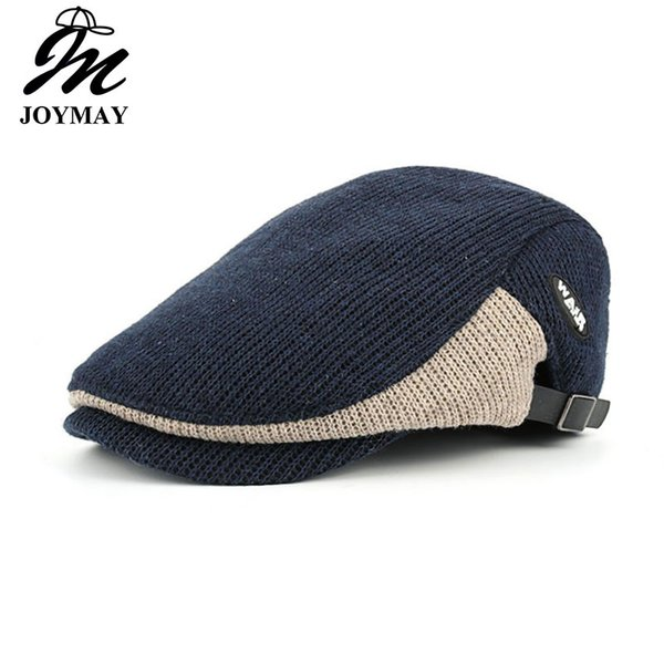 JOYMAY 2018 New Winter Cotton Berets Caps For Men Casual Peaked Caps Berets Hats Casquette Cap Y035 Hot Sale Hats Free Shipping