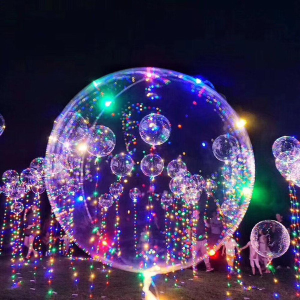 clear LED Light BOBO Balloon Wedding birthday Party Decorations Glow Bubble Balloons Valentine christmas ktv bar Decorations Party Supplies