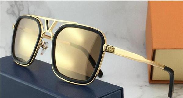 La última venta de gafas de sol de diseñador de moda popular 0947 marco de placa cuadrada de calidad superior anti-UV400 lente con caja original