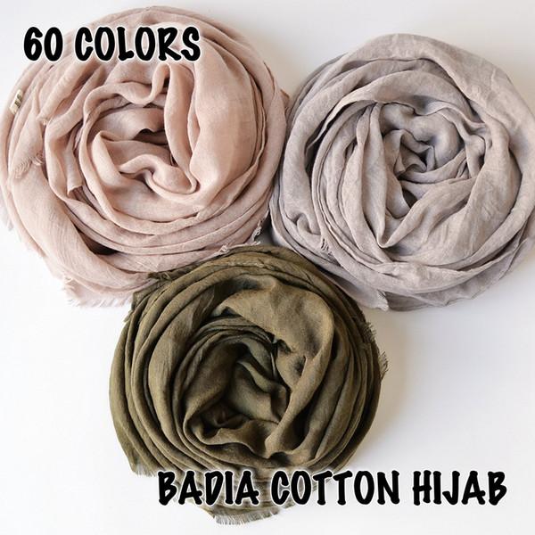 10pcs/lot high quality women muslim frayed scarf shawls wraps islamic headwear crinkle solid plain premium cotton hijabs S18101904