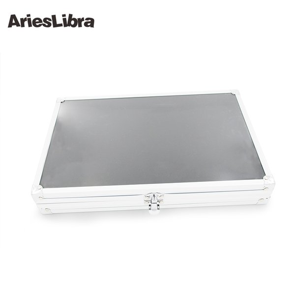 Hot Sale Nail Art Display Case Stainless Steel Alloy Nail Display Tips Shelf Showing Tools Art Equipment Case