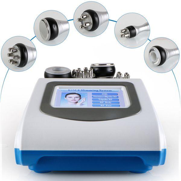 best selling 5-1 Ultrasonic Liposuction 40k Cavitation Fat Burning Biopolar RF Face Care Vacuum Body Slimming Machine Spa