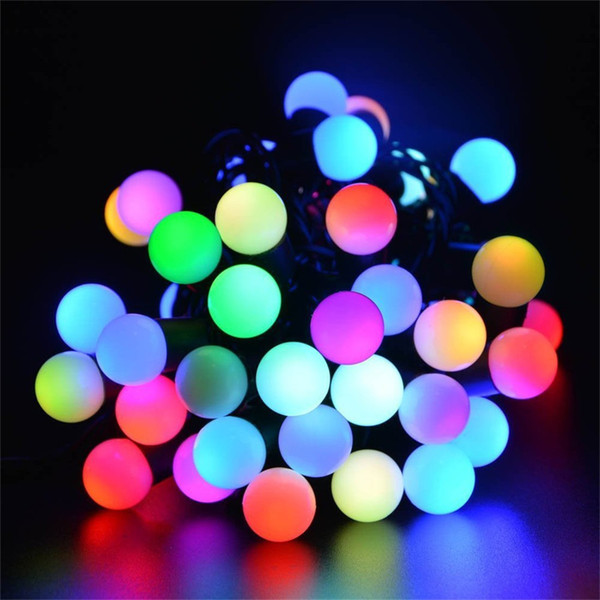 Small white ball Solar String Light 30 LED Waterproof Solar Power String Lights for Party,gardens,outdoor,holiday Decorations(Multicolor)