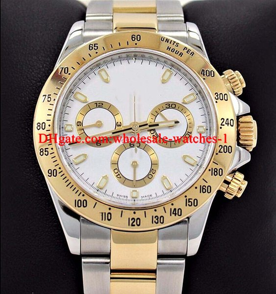 Christmas gift 116523 white dial Tow-Tone 18K Yellow Gold Men's Watch 40mm Dress Styles