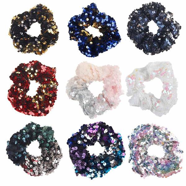12 styles Mermaid Reversible sequin Hairband Children Hairband Princess hair tie Charm Scrunchie Ponytail Hair Accessories 150pcs T1G112