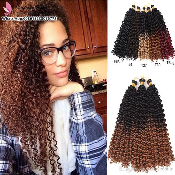 2019 2018 New Synthetic Braiding Hair Freetress Kinky Deep Curl Flawless Curly Crochet Braids For Black Women Birthday Party Weding Hairstyles From