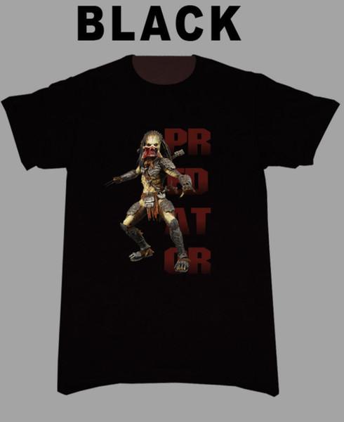 Erkekler'S Erkekler için Predator Tişörtlü Tişörtlü İndirim% 100 Pamuklu T Gömlek 2018 Marka Giyim Casual üst tee Tees