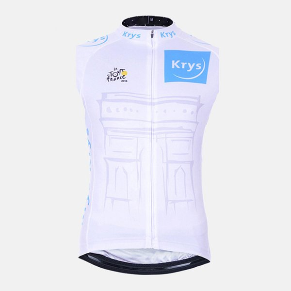 TOUR DE FRANCE Cycling Sleeveless jersey Vest men summer bicycle shirt pro bike Outdoor Sports wear 60425