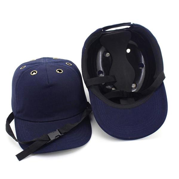 2018 New Safety Bump Cap Helm Baseball Hat Style Schutzhelm für Wear Head Protection 6 Holes