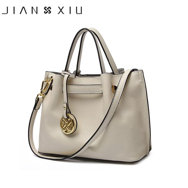 JIANXIU enuine Leather Handbag Luxury Handbags Women Bags Designer Bolsa Feminina 2018 Tote Borse Tassel Big Shoulder Bag