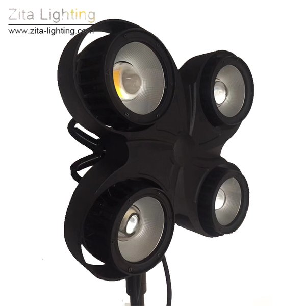 Zita Lighting New LED 4EYE Blinder 4X100W COB Outdoor Audience Lights Waterproof 2IN1 DMX512 DJ Disco Theater Event Stage Lighting Effect
