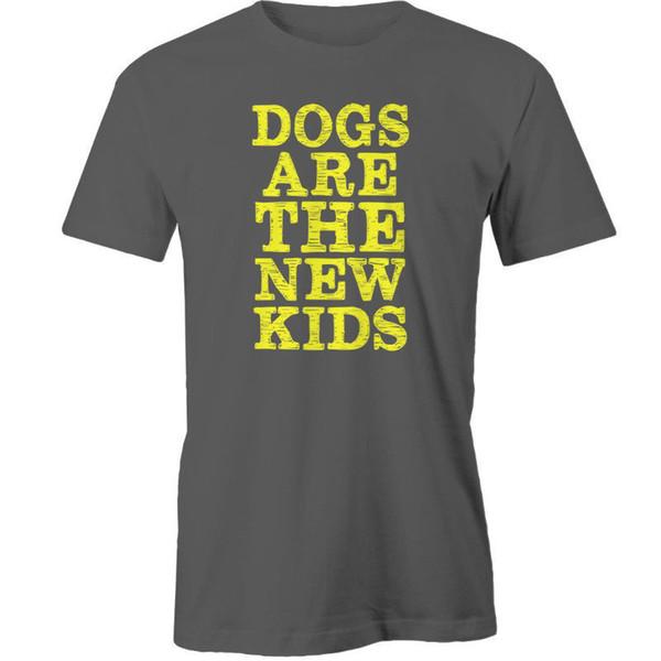 I cani sono i nuovi bambini T-Shirt Animal Funny spedizione gratuita Unisex Casual