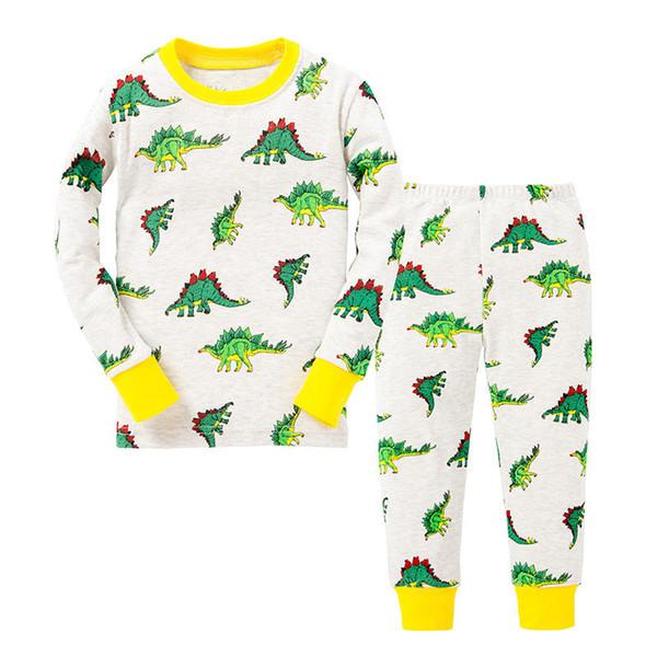 BABY 100% cotton children pajamas set kids Cartoon dinosaurs sleepwear Girls boys cozy nightwear Family Clothing pyjamas Pijamas