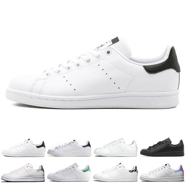 Adidas Orijinal smith erkekler kadınlar rahat ayakkabılar yeşil siyah beyaz mavi kırmızı pembe gümüş mens stan moda deri ayakkabı daireler sneakers