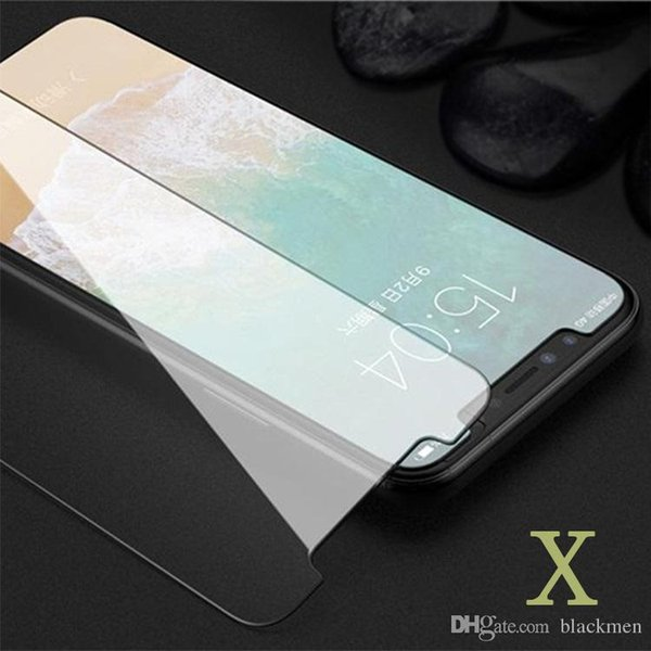 IPhone Glas Displayschutzfolie gehärtetes Glas Schutzfolie für iPhone 7 gehärtetes Glas Screen Nanofilm für IPhone 7 Plus Anti-Splitter-Papier-Paket
