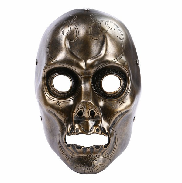 Harry Potter Film Theme Halloween Mask Death Eater's Resin Decorated Mask Collection Party COS Horror Mask