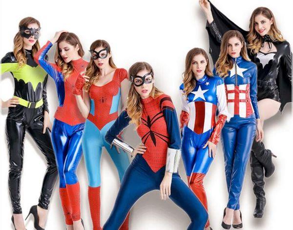 Top sales sexy Avengers Captain America theme costume Women superhero bat spdidewomen cosplay Halloween DS Party Costumes Cosplay