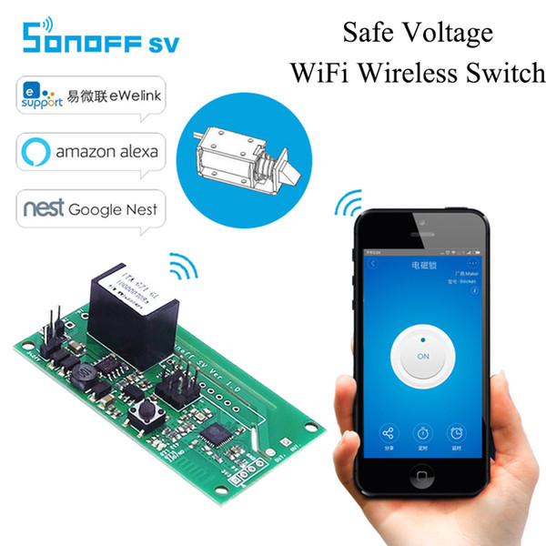 Itead Sonoff SV Safe Voltage WiFi Wireless Switch Module Supporto Sviluppo secondario 5V 12V per IOS Android Smart Home