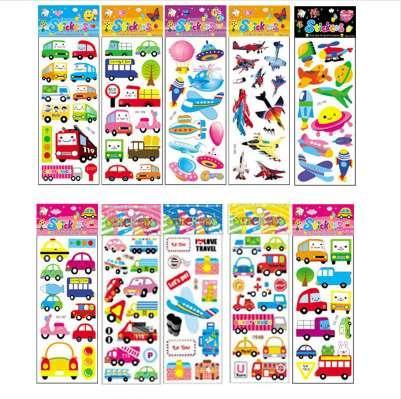 10 Adet Farklı Karikatür Sticker Oyuncaklar Çocuk Hediye Anaokulu Sticker Telefon Notebook No-tekrarı