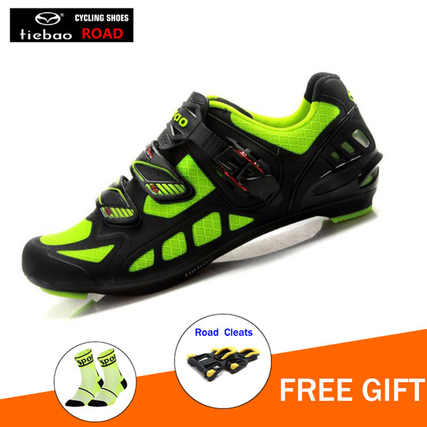 TIEBAO Road Cycling Shoes triathlon bicycle Racing Sports superstar Breathable Athletic sapatilha ciclismo Bike men sneakers