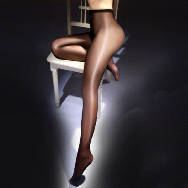 746163b5de6 2019 Women High Waist Sexy Oil Shine Glossy Stocking Body Shaped ...