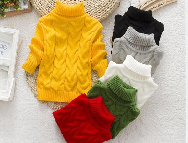 Neonati maschietti Maglioni Bambini Autunno Inverno maglieria di cotone top Dolcevita pullover bambini maglioni 3-10 anni