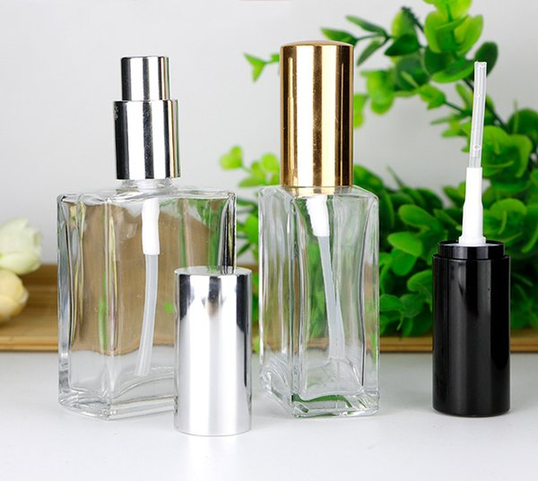 Wholesale USA UK 30ml Square Perfume Spray Bottles Glass Atomizer Bottles Empty Cosmetic Makeup Container For Travel