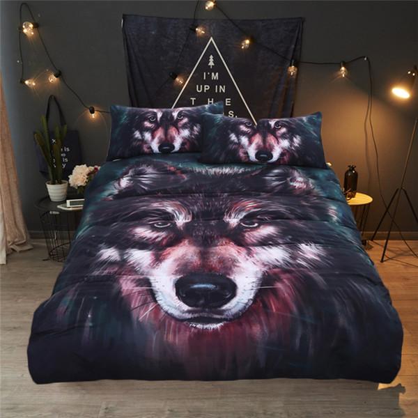 Wolf Bettwäsche Set Malerei 3D Vivid Bettbezug mit Kissenbezügen 3pcs Twin Full Queen King Size Bettbezug Set Bettwäsche